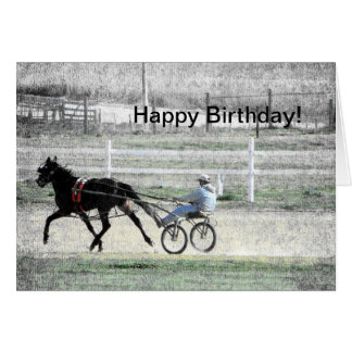 Harness Racing, Birthday Card