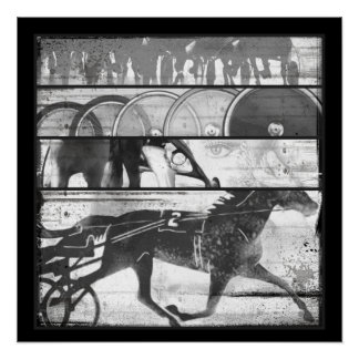 Harness Racing Grunge Poster