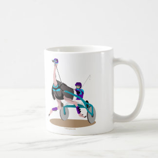 Harness Racing Ostrich Coffee Mug