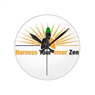 Harness Your Inner Zen Round Clock
