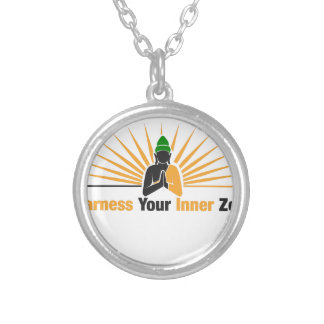 Harness Your Inner Zen Silver Plated Necklace