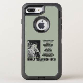 Harnessing A Waterfall Sun's Energy Tesla Quote OtterBox Defender iPhone 7 Plus Case