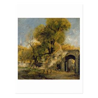 Harnham Gate, Salisbury, c.1820-21 (oil on canvas) Postcard