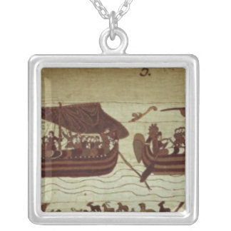 Harold crosses the Channel with sails full of Silver Plated Necklace
