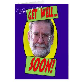Harold says 'Get well soon' Greeting Card