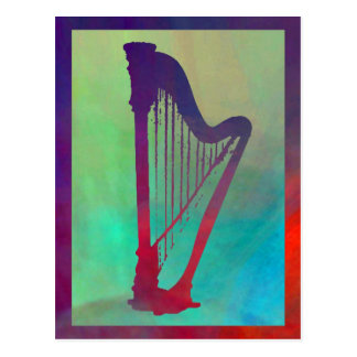 Harp 5 postcard
