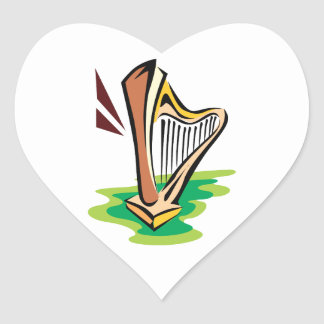 harp abstract with green.png sticker