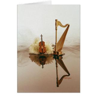 Harp & Cello card