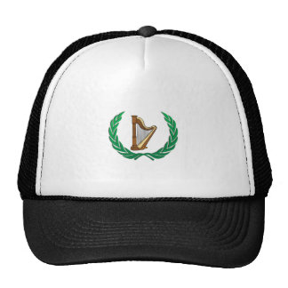 harp in a olive branch cap