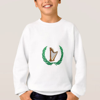 harp in a olive branch sweatshirt