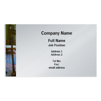 Harp in Living Room - Platinum Finish Business Card Template
