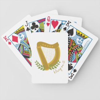 Harp On It Bicycle Playing Cards