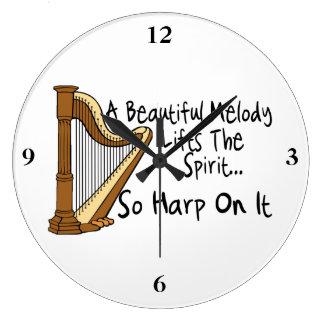 Harp On It Large Clock