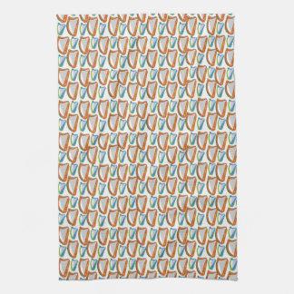 Harp Patterned Towel