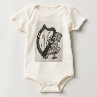 Harp puppy baby bodysuit