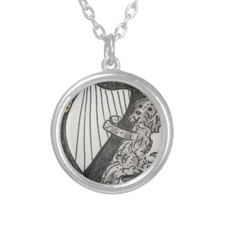Harp puppy silver plated necklace