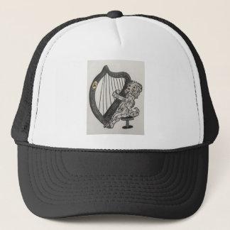 Harp puppy trucker hat