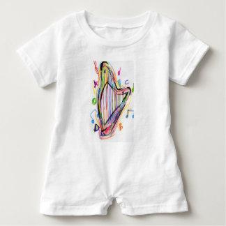 Harp Sketch - Rainbow Baby Bodysuit