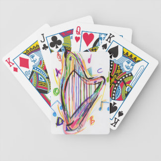 Harp Sketch - Rainbow Bicycle Playing Cards