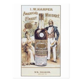 Harper Americas Finest Whiskey Postcard