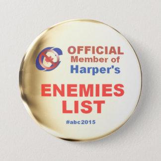 Harper Enemies List 7.5 Cm Round Badge