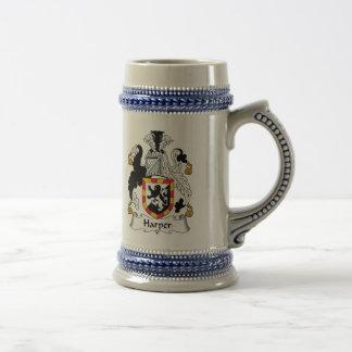 Harper Family Crest Beer Stein