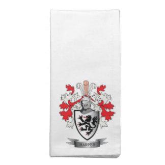 Harper Family Crest Coat of Arms Napkin