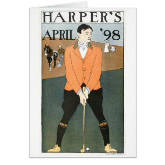 Harper's '98 Golf notecard