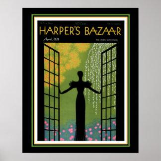 Harper's Bazaar Art Deco Cover 16 x 20 Poster