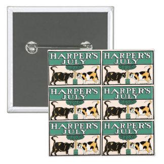 Harper's Cats 15 Cm Square Badge