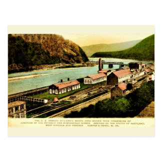 Harpers Ferry Armoury Vintage Reproduction Postcard