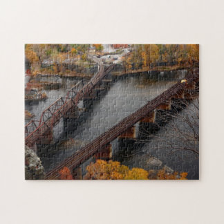 Harpers Ferry in the Fall Jigsaw Puzzle