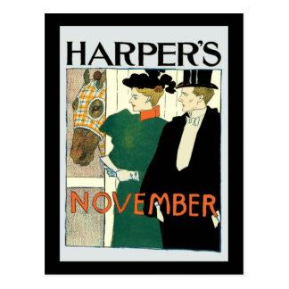 Harper's June Horse for Sale Postcard