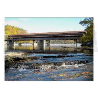 Harpersfield Covered Bridge Ashtabula County Ohio Greeting Card