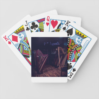 Harps in shadow bicycle playing cards