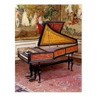 Harpsichord, 1634 postcard