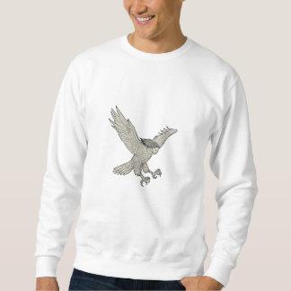 Harpy Swooping Drawing Sweatshirt