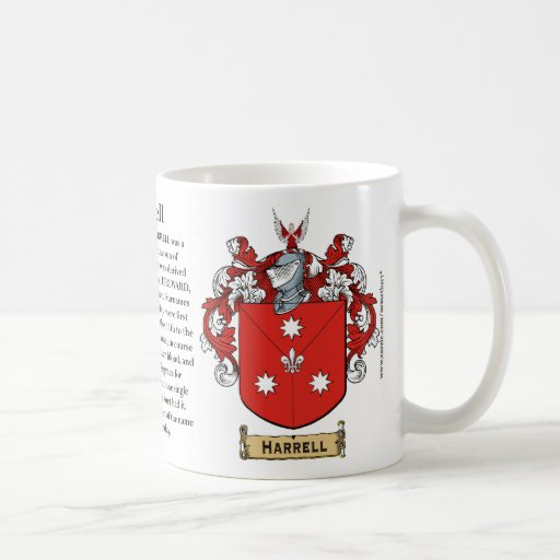 Harrell, the Origin, the Meaning and the Crest on Coffee Mugs