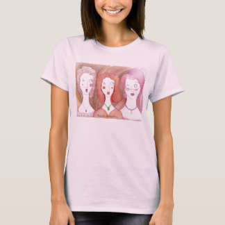 Harried Trio ladies baby doll T T-Shirt