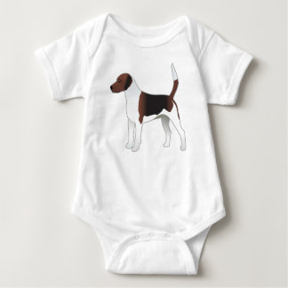 Harrier Basic Breed Hound Dog Illustration Baby Bodysuit