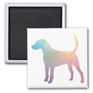 Harrier Beagle Hound Dog Geometric Silhouette Square Magnet