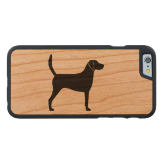 Harrier Dog Silhouette Carved Cherry iPhone 6 Case