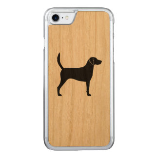 Harrier Dog Silhouette Carved iPhone 7 Case