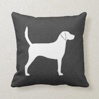 Harrier Dog Silhouette Cushion