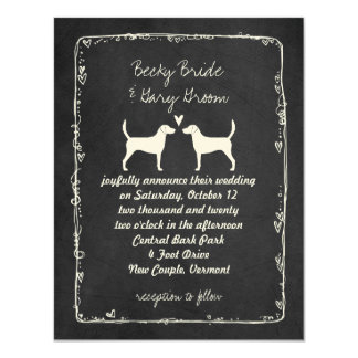 Harrier Dog Silhouettes Wedding Announcement
