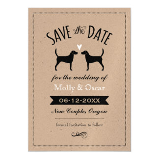 Harrier Dog Silhouettes Wedding Save the Date Magnetic Invitations