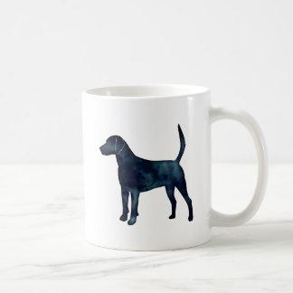 Harrier Hound Beagle Black Watercolor Silhouette Coffee Mug