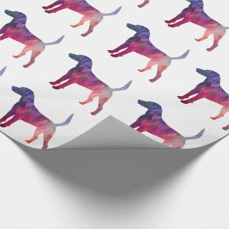 Harrier Hound Dog Geometric Pattern Silhouette