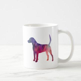 Harrier Hound Dog Geometric Pattern Silhouette Coffee Mug