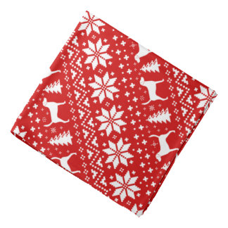 Harrier Silhouettes Christmas Pattern Red Bandana